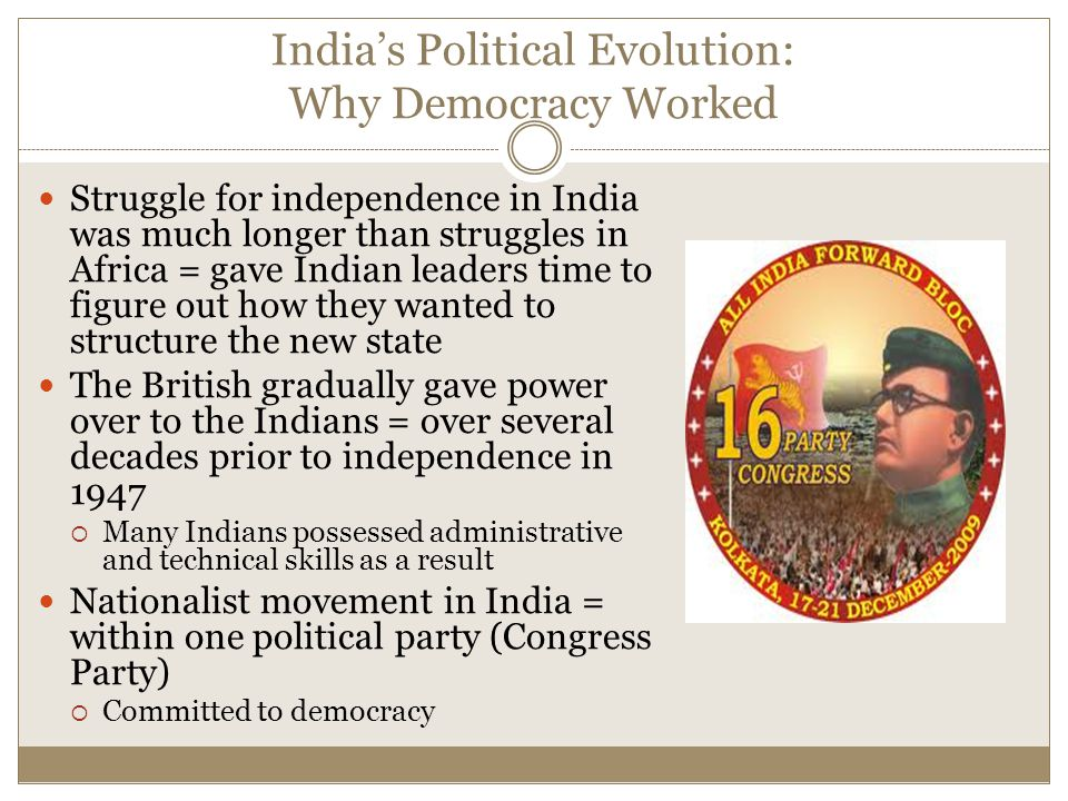 India's Political Evolution: Why Democracy Worked