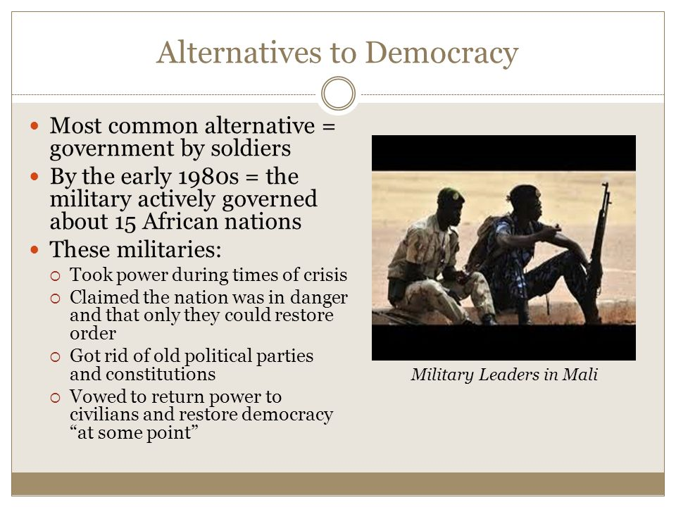 Alternatives to Democracy
