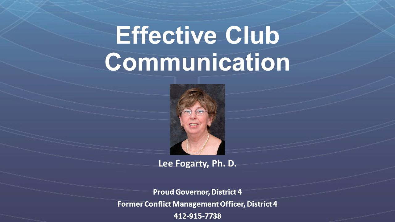 Effective Club Communication