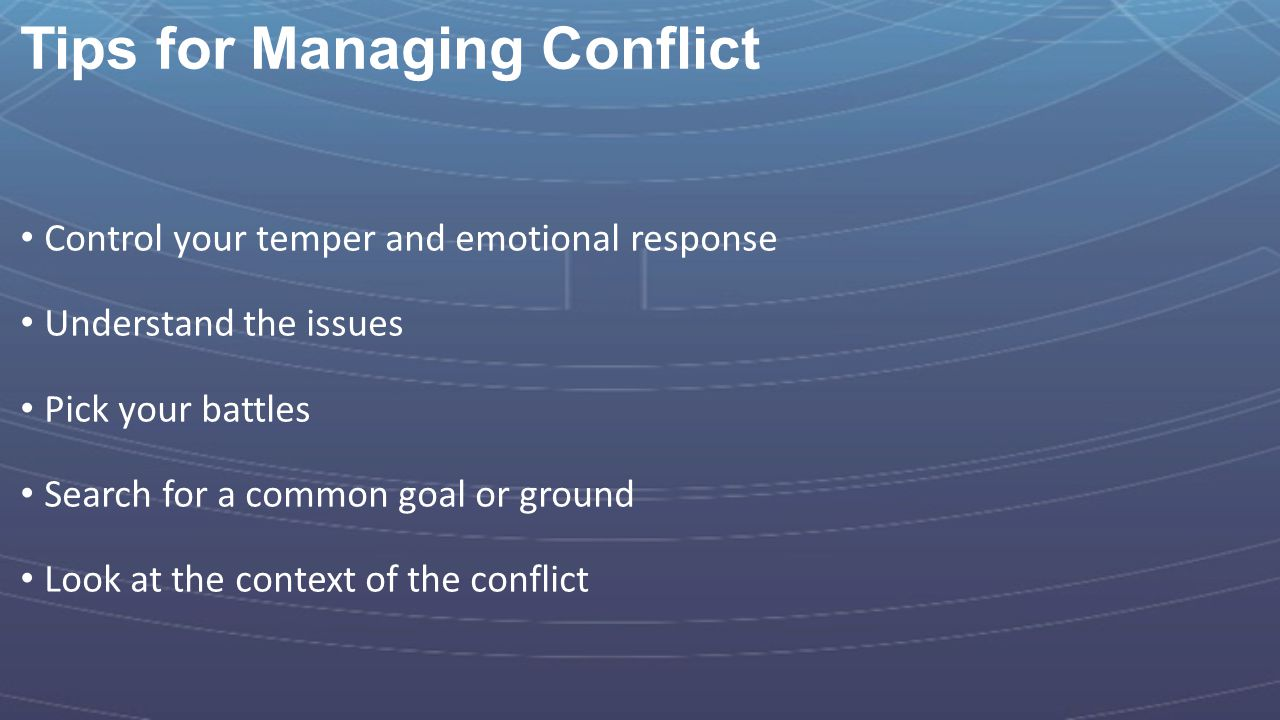Tips for Managing Conflict