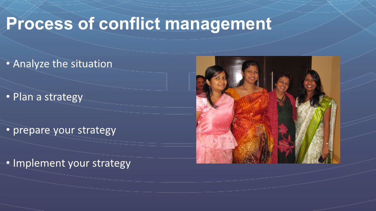 Process of conflict management