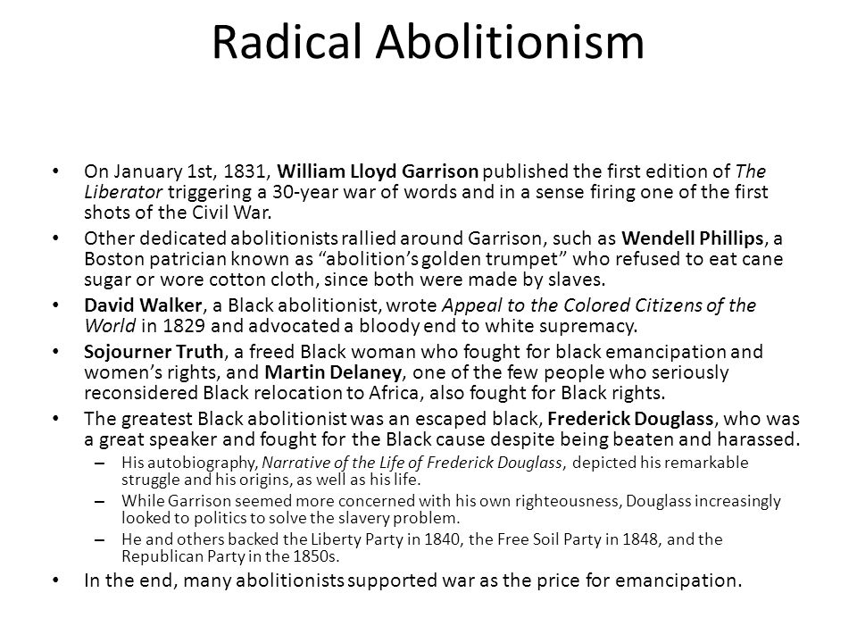 Radical Abolitionism