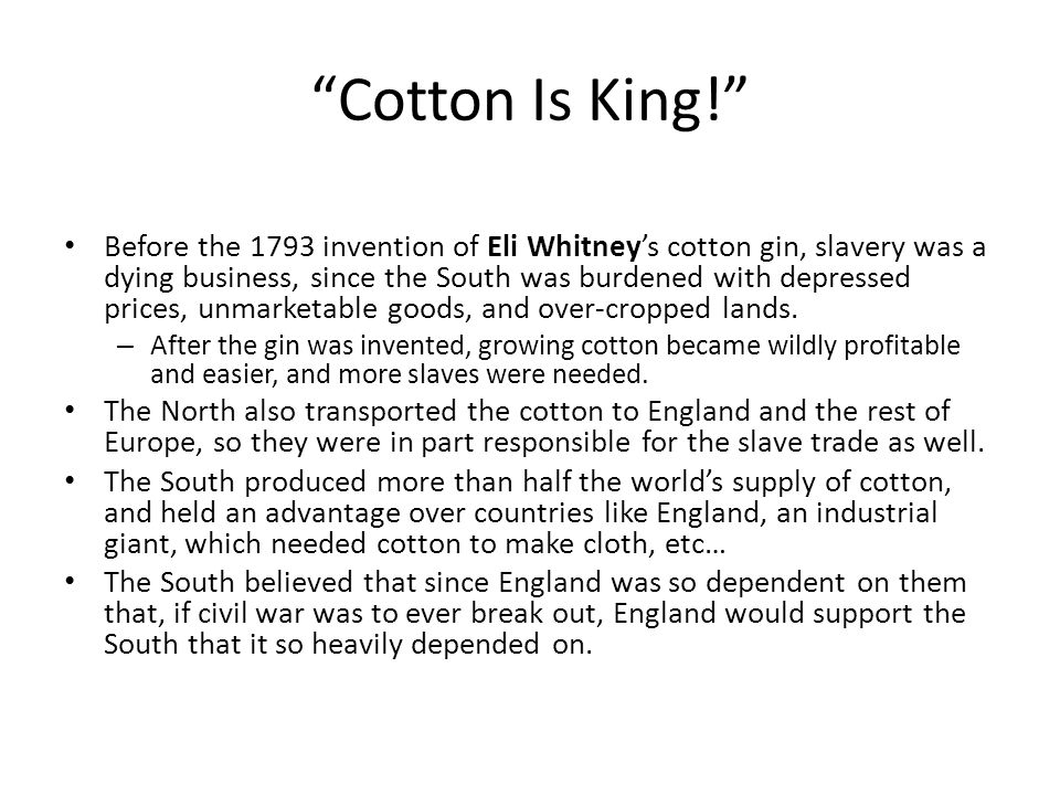 Cotton Is King!