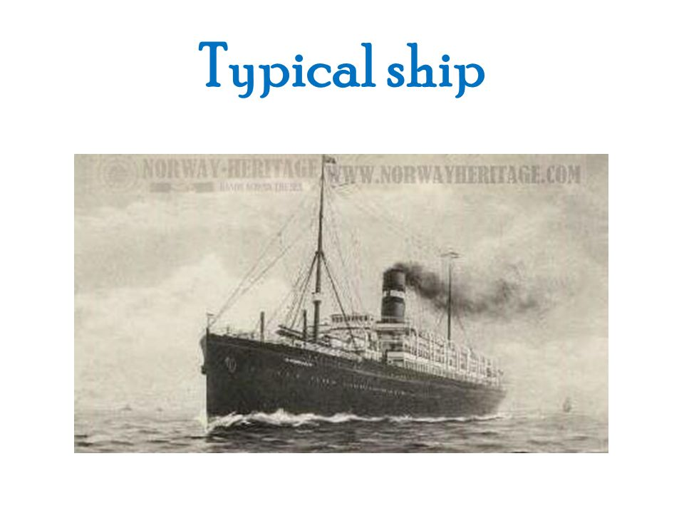 Typical ship