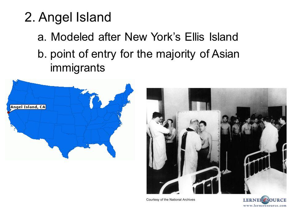 a. Modeled after New York's Ellis Island
