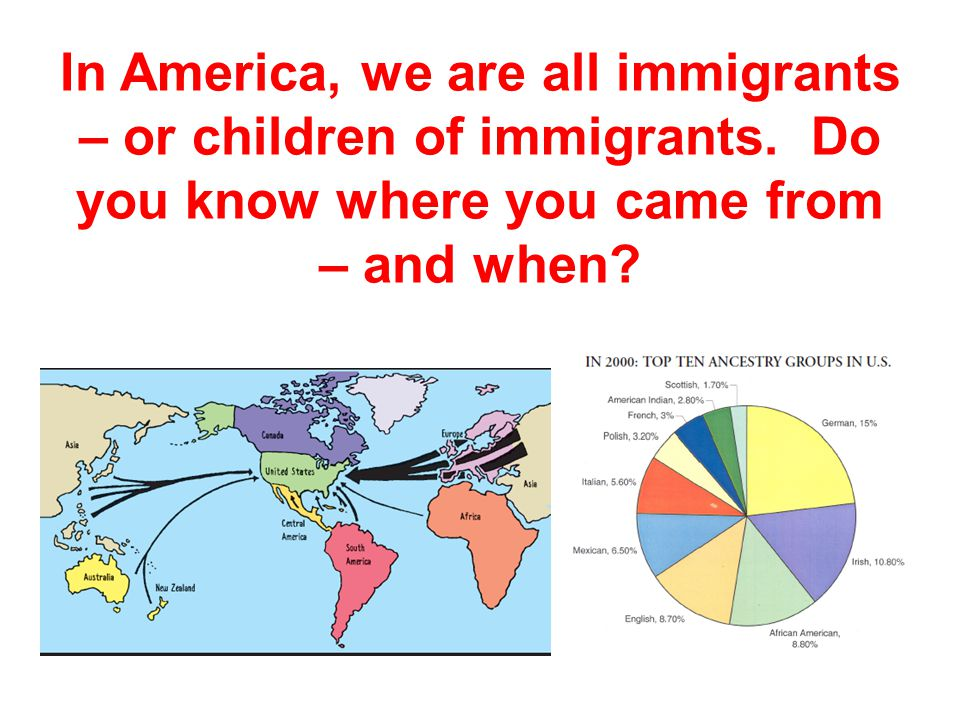 In America, we are all immigrants – or children of immigrants