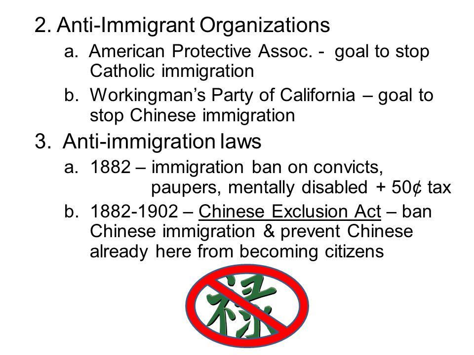 2. Anti-Immigrant Organizations