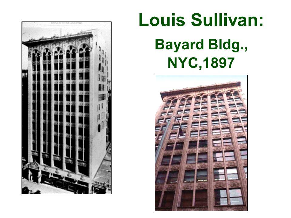 Louis Sullivan: Bayard Bldg., NYC,1897