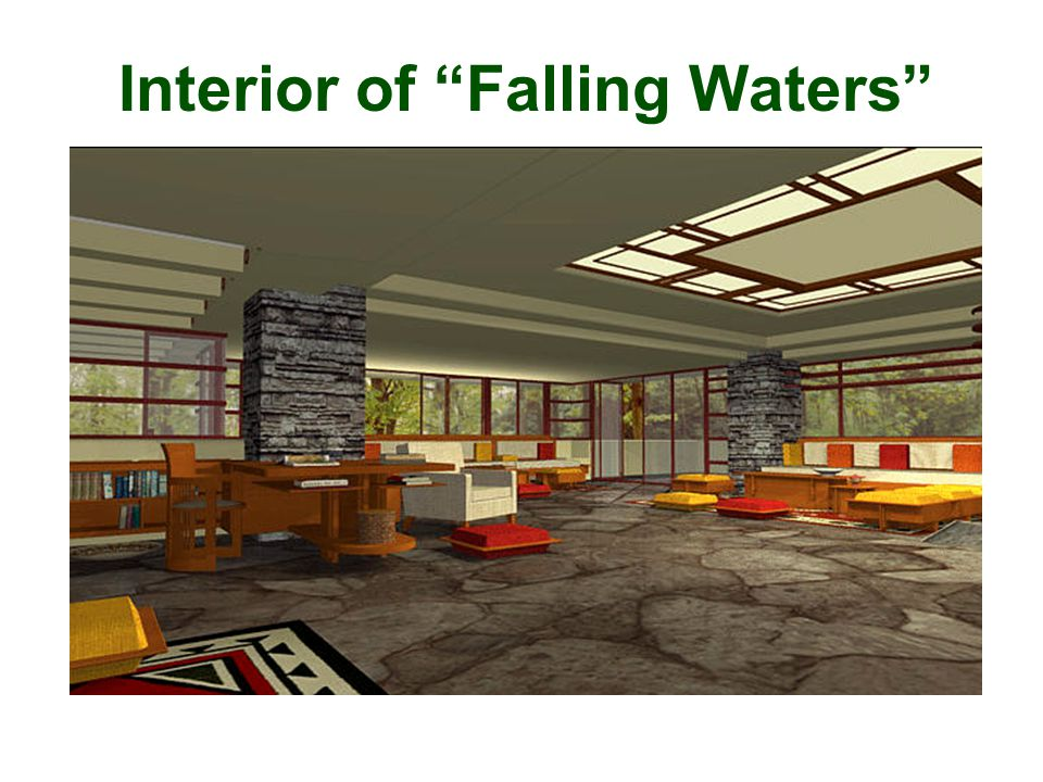 Interior of Falling Waters