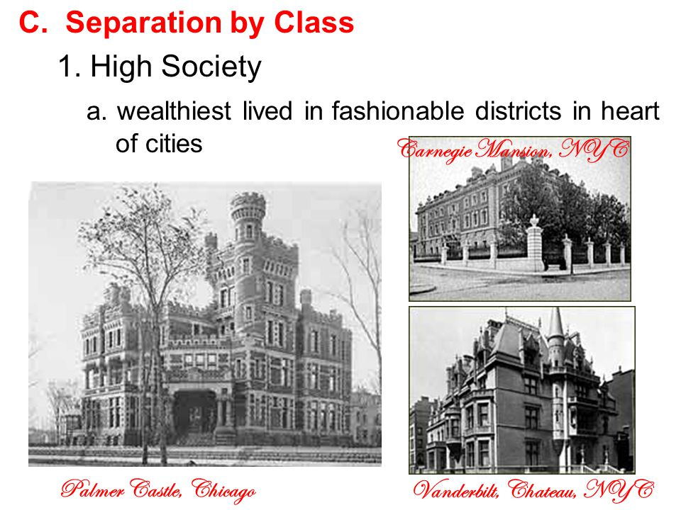 C. Separation by Class 1. High Society a