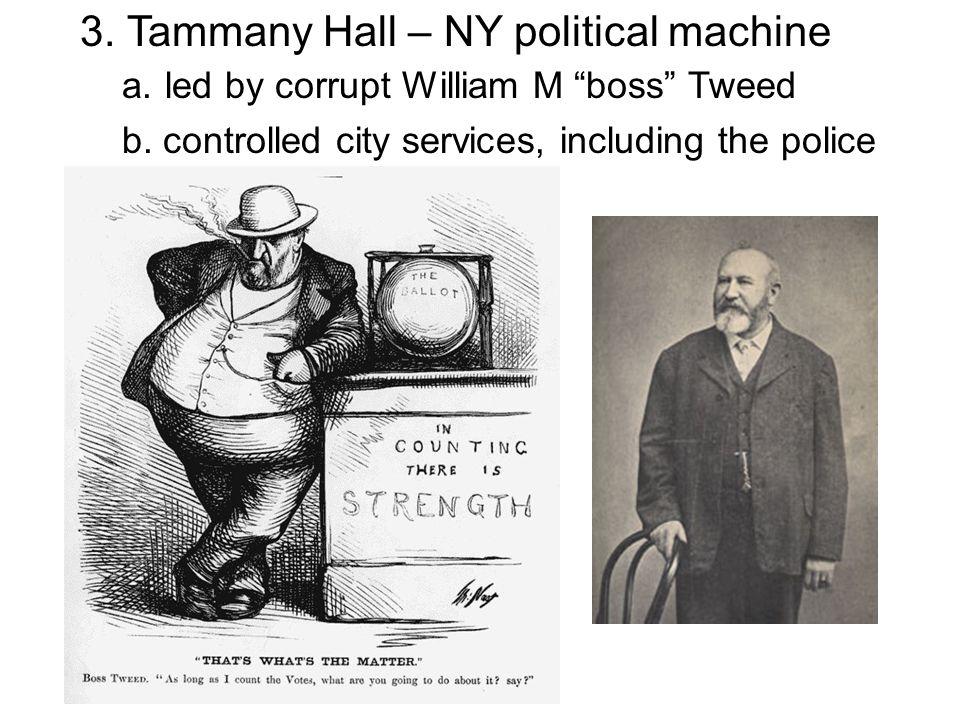 3. Tammany Hall – NY political machine. a