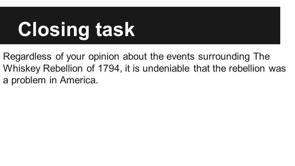 Closing task