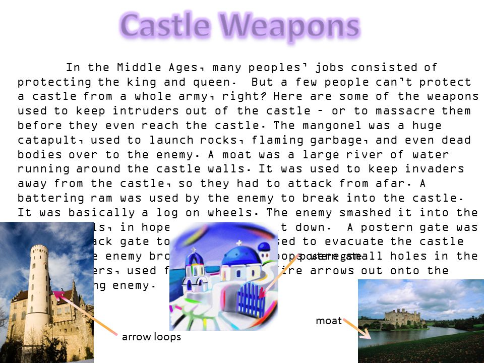 Castle Weapons