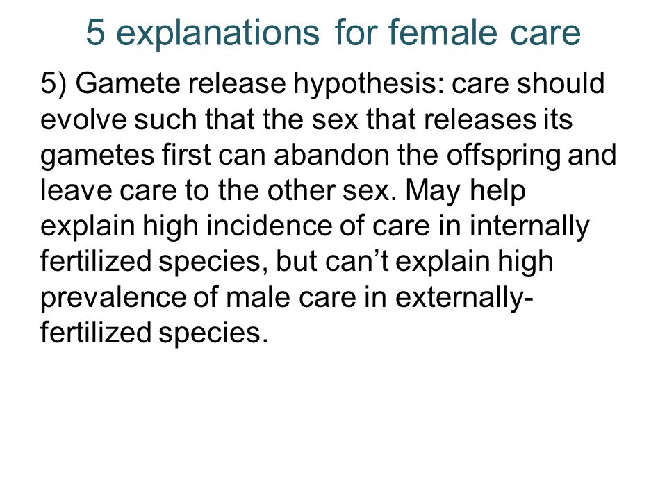 5 explanations for female care