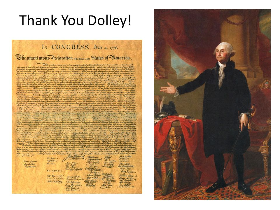 Thank You Dolley!