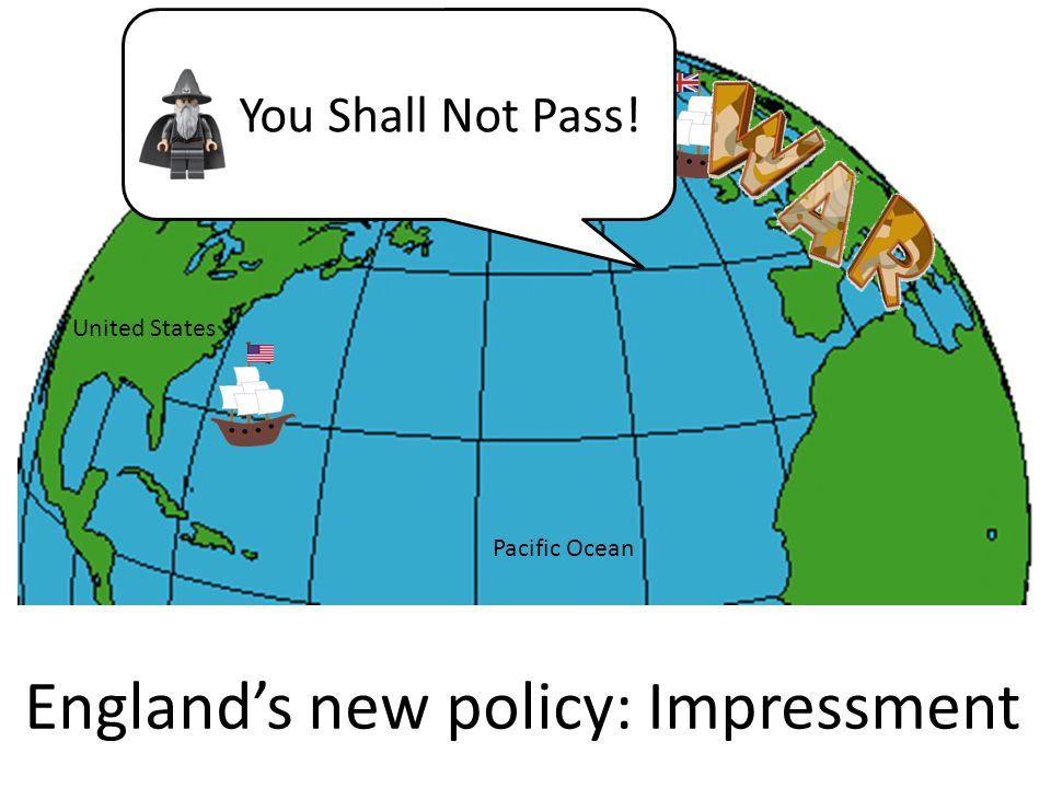 England's new policy: Impressment