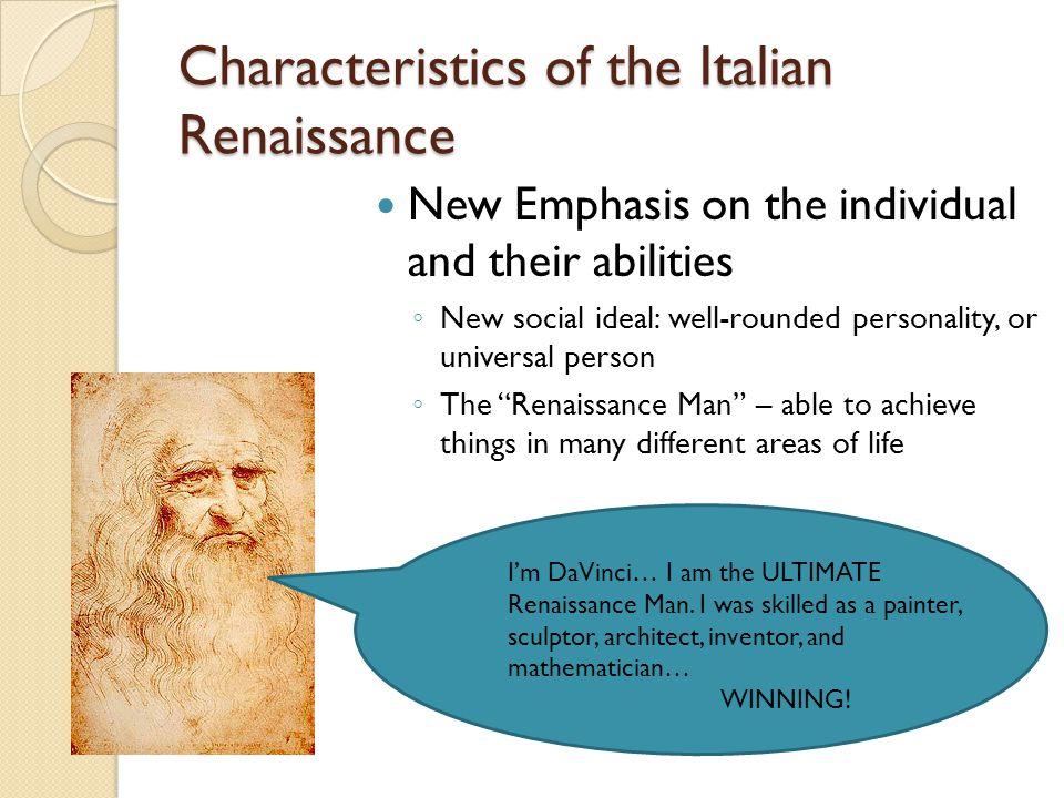 Characteristics of the Italian Renaissance