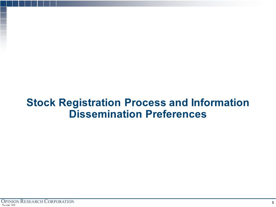 Stock Registration Investors are generally unaware of details surrounding the stock registration process . . .
