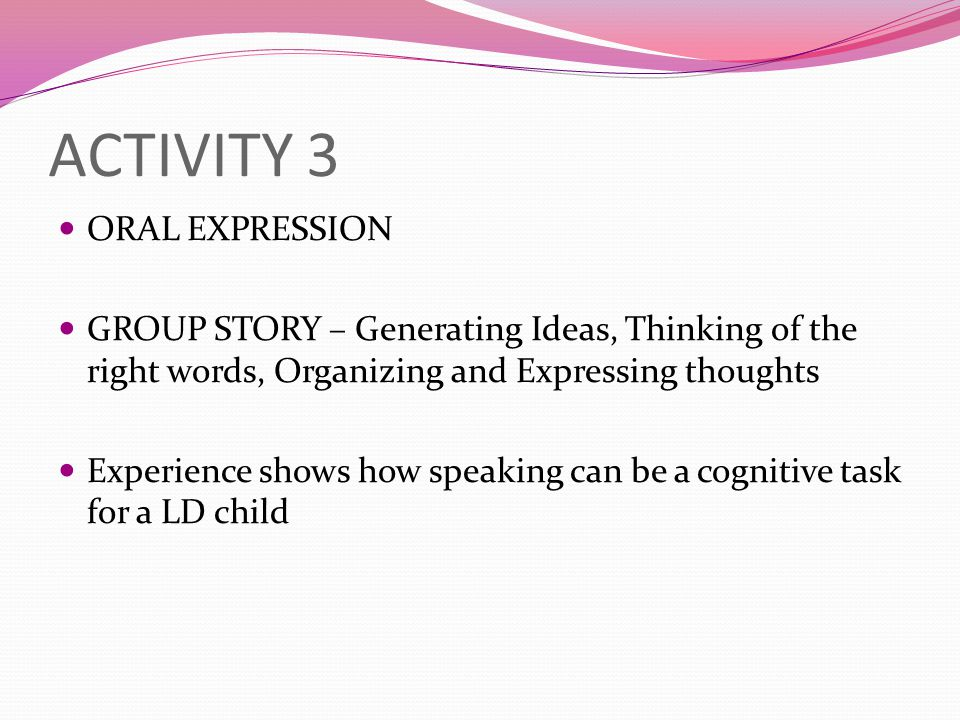ACTIVITY 3 ORAL EXPRESSION