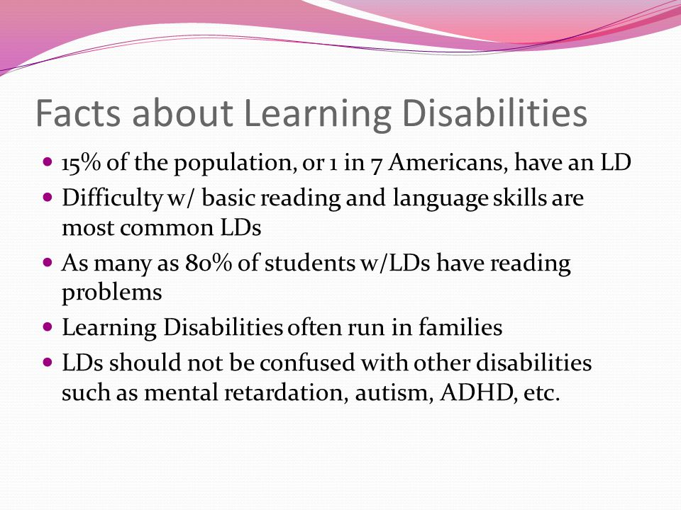 Facts about Learning Disabilities