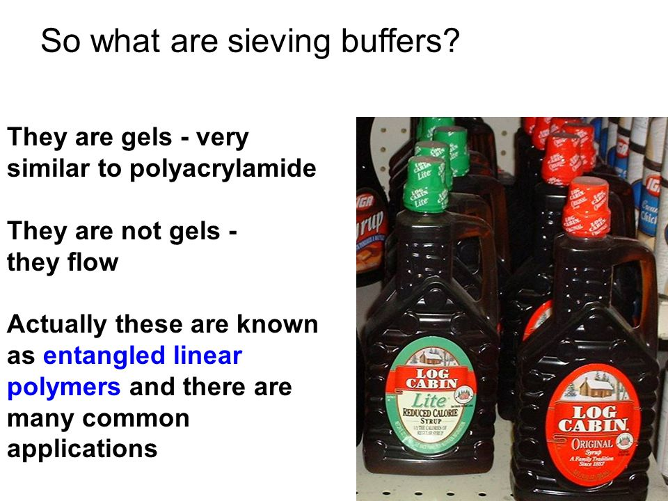 So what are sieving buffers