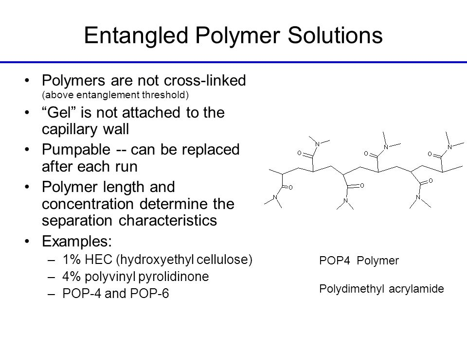 Entangled Polymer Solutions