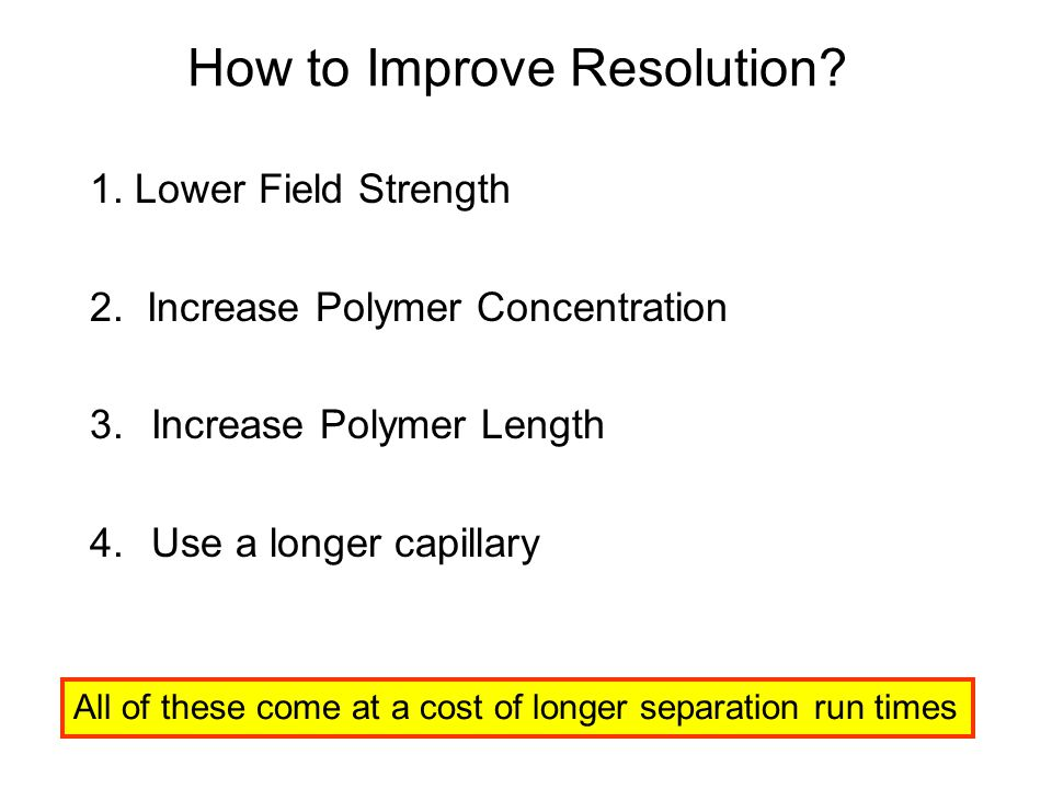 How to Improve Resolution