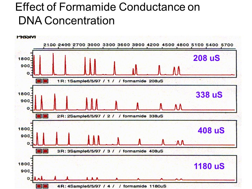 Effect of Formamide Conductance on DNA Concentration