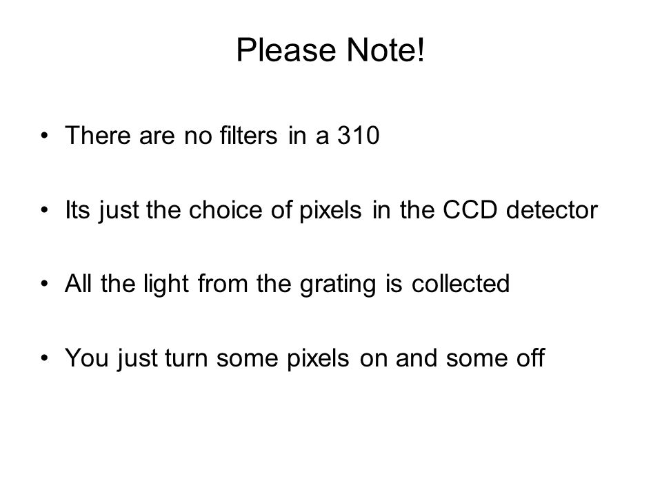 Please Note! There are no filters in a 310