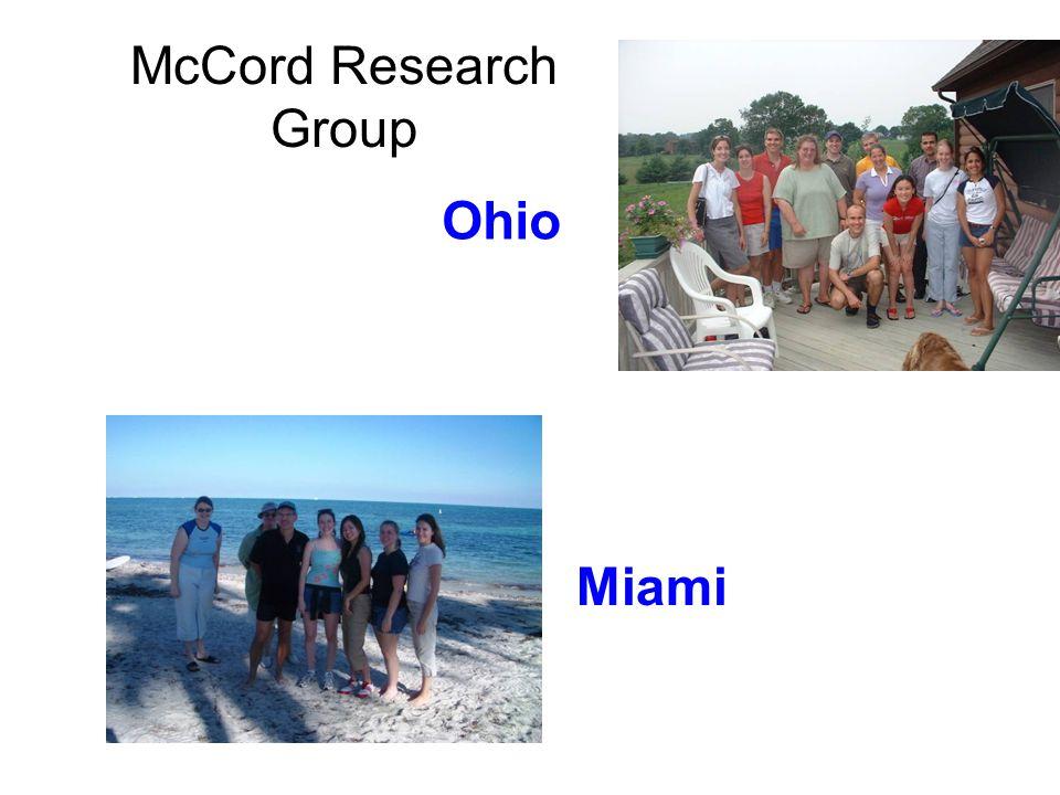 McCord Research Group Ohio Miami