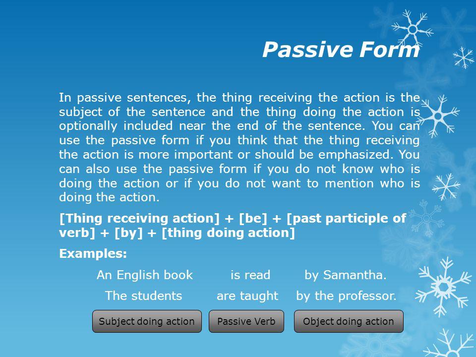 Passive Form