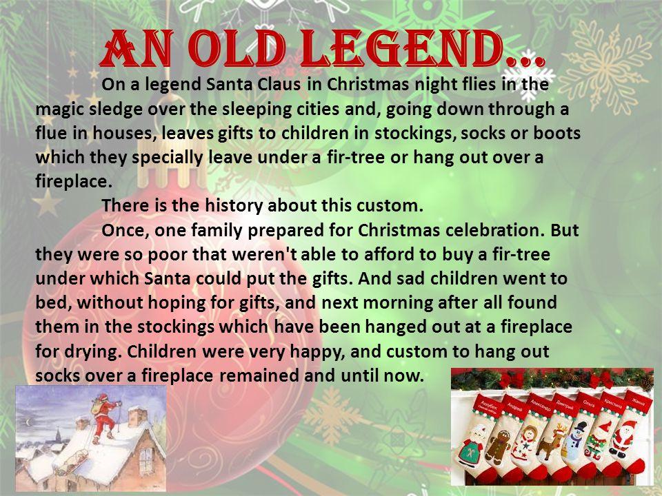 An old legend…