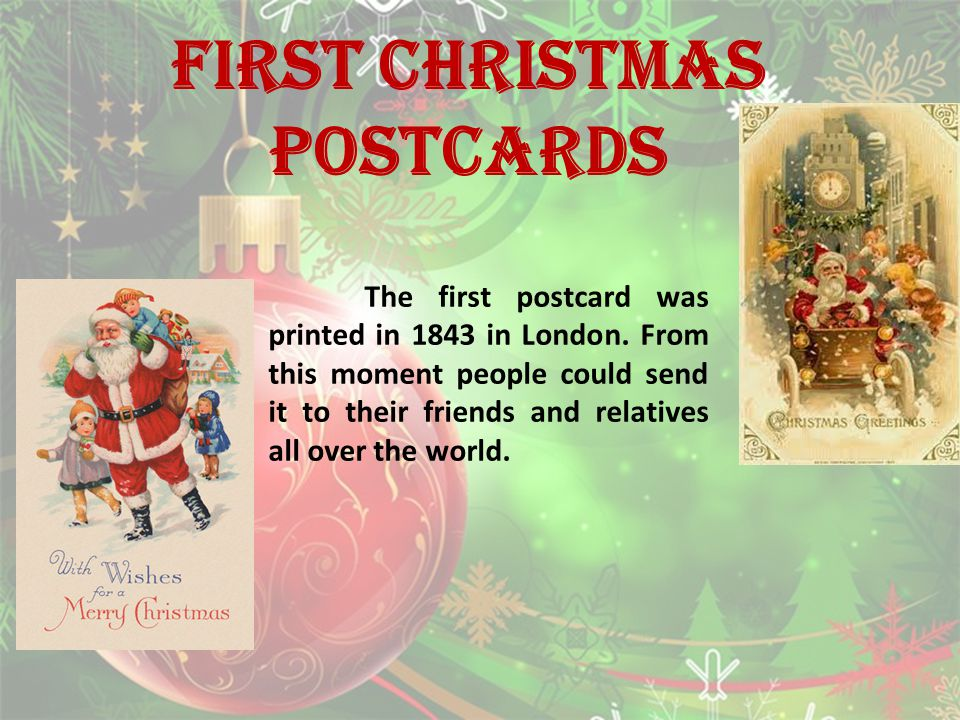 First CHRISTMAS postcards