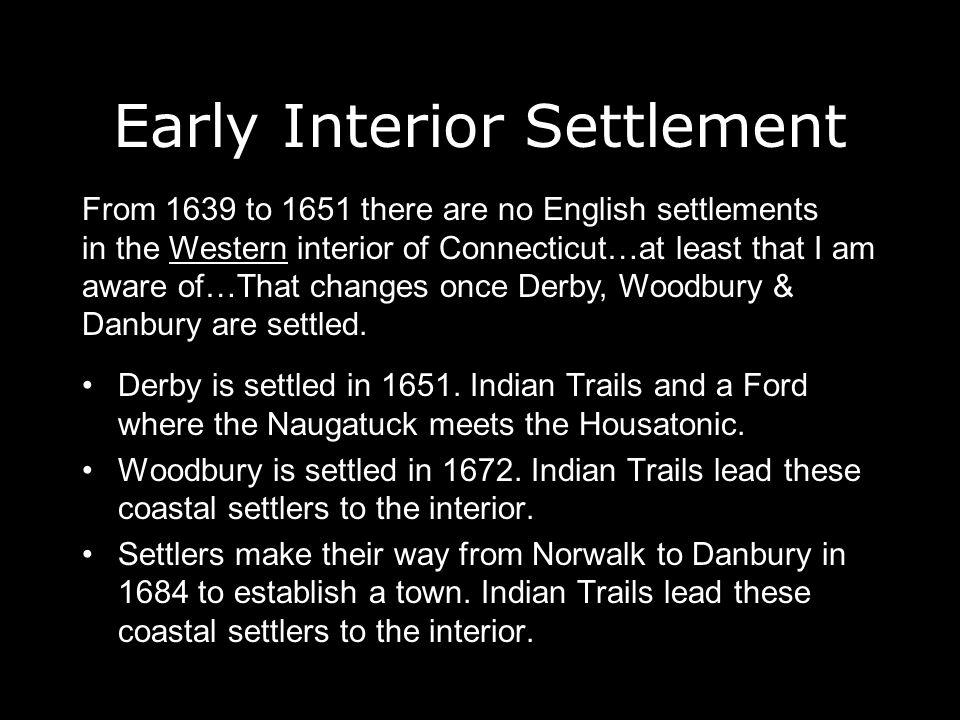 Early Interior Settlement