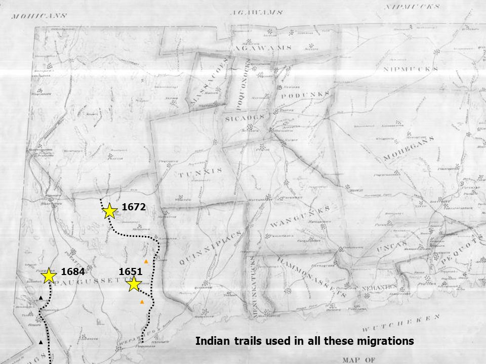 Indian trails used in all these migrations