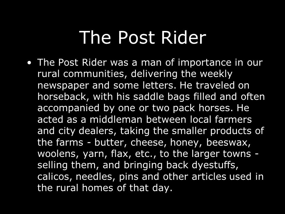 The Post Rider