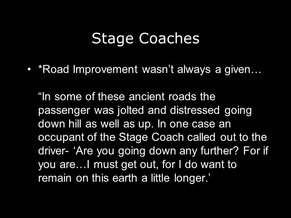 Stage Coaches