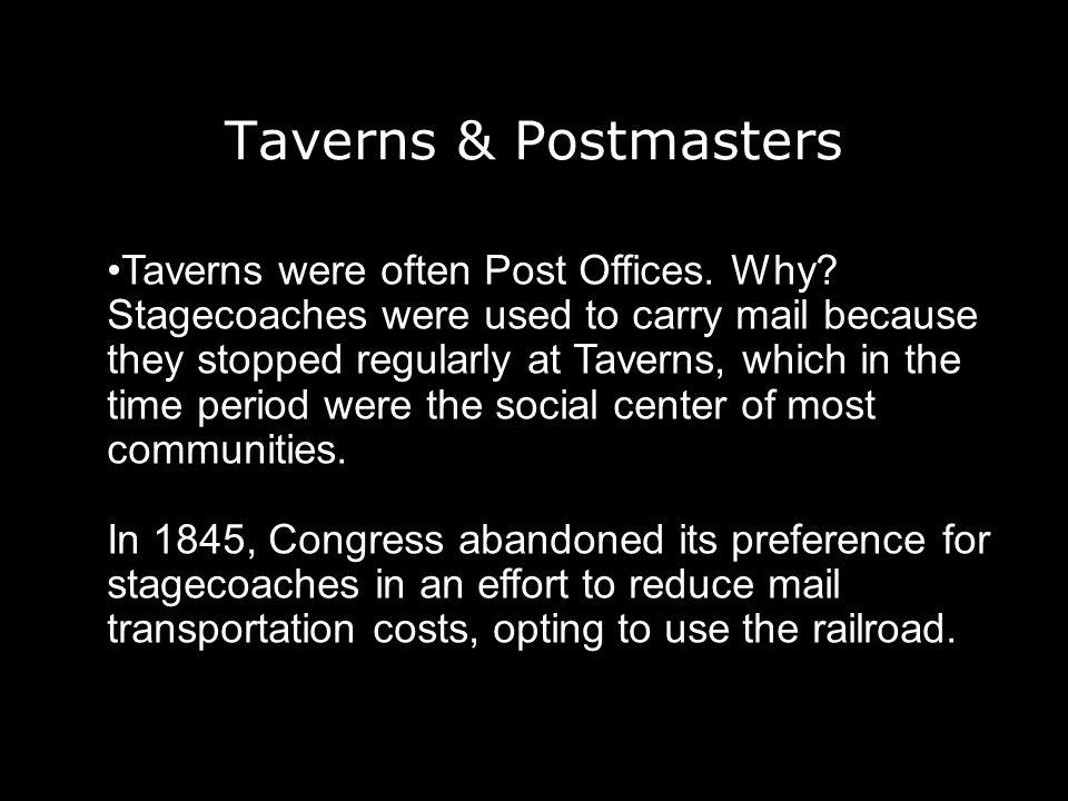 Taverns & Postmasters