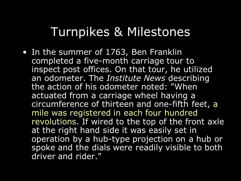 Turnpikes & Milestones