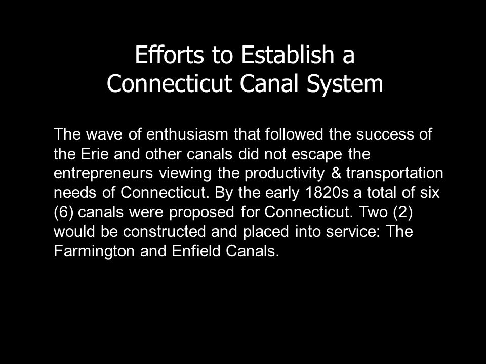 Connecticut Canal System