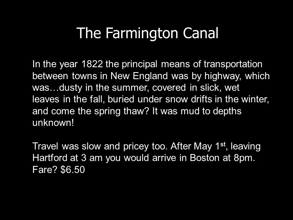 The Farmington Canal