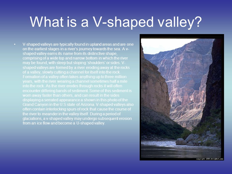 What is a V-shaped valley
