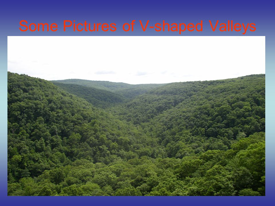 Some Pictures of V-shaped Valleys
