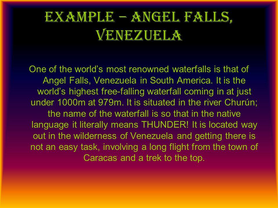 Example – angel falls, Venezuela