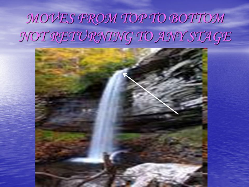 MOVES FROM TOP TO BOTTOM NOT RETURNING TO ANY STAGE