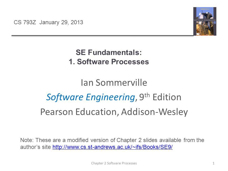 SE Fundamentals: 1. Software Processes