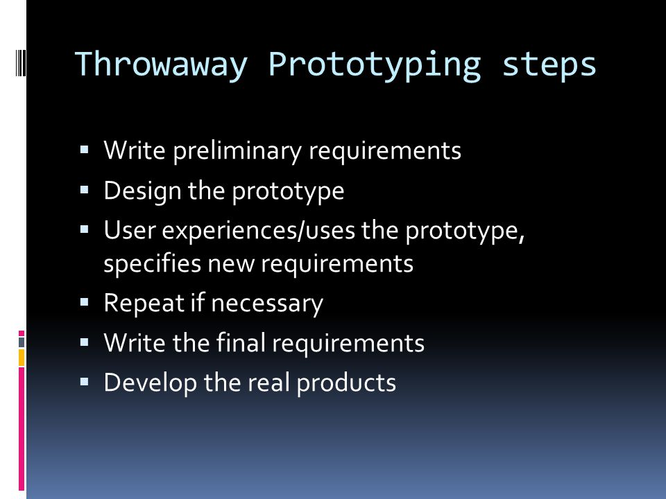 Throwaway Prototyping steps