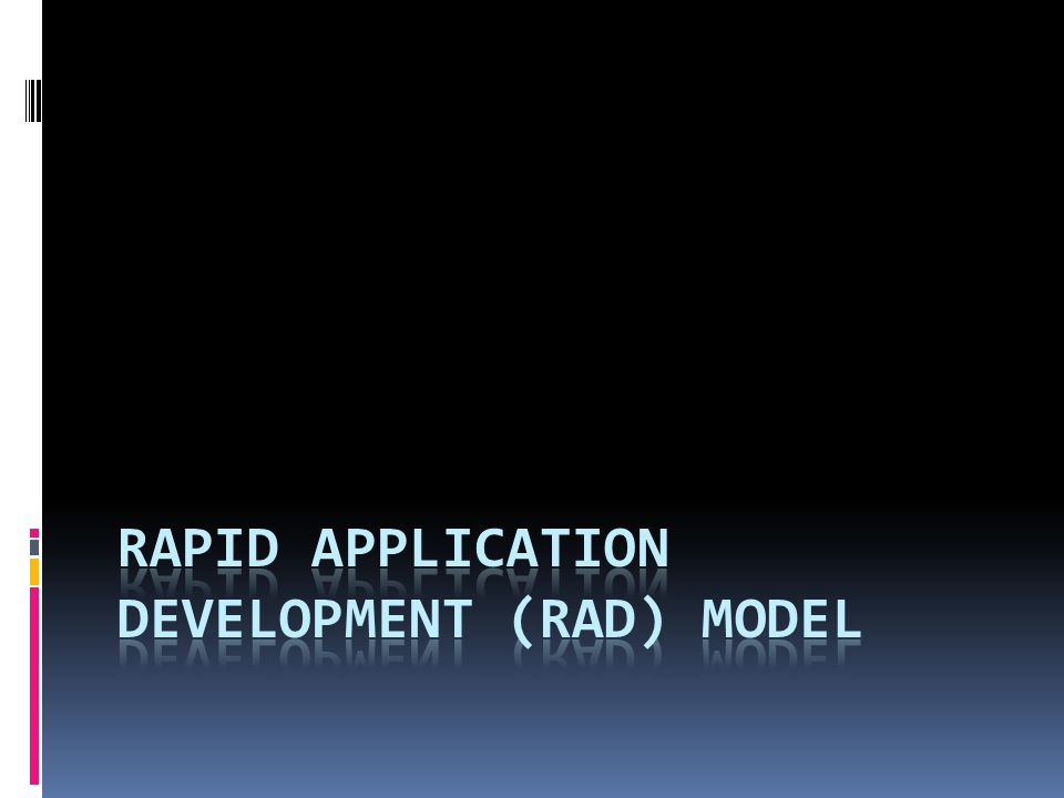 Rapid application development (RAD) Model