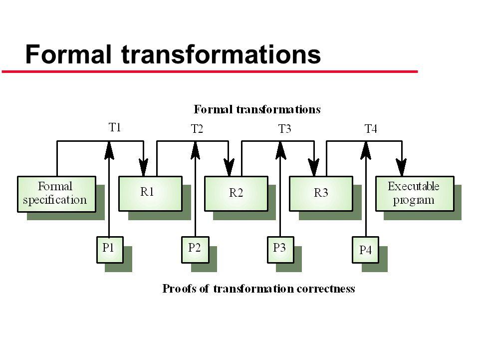 Formal transformations