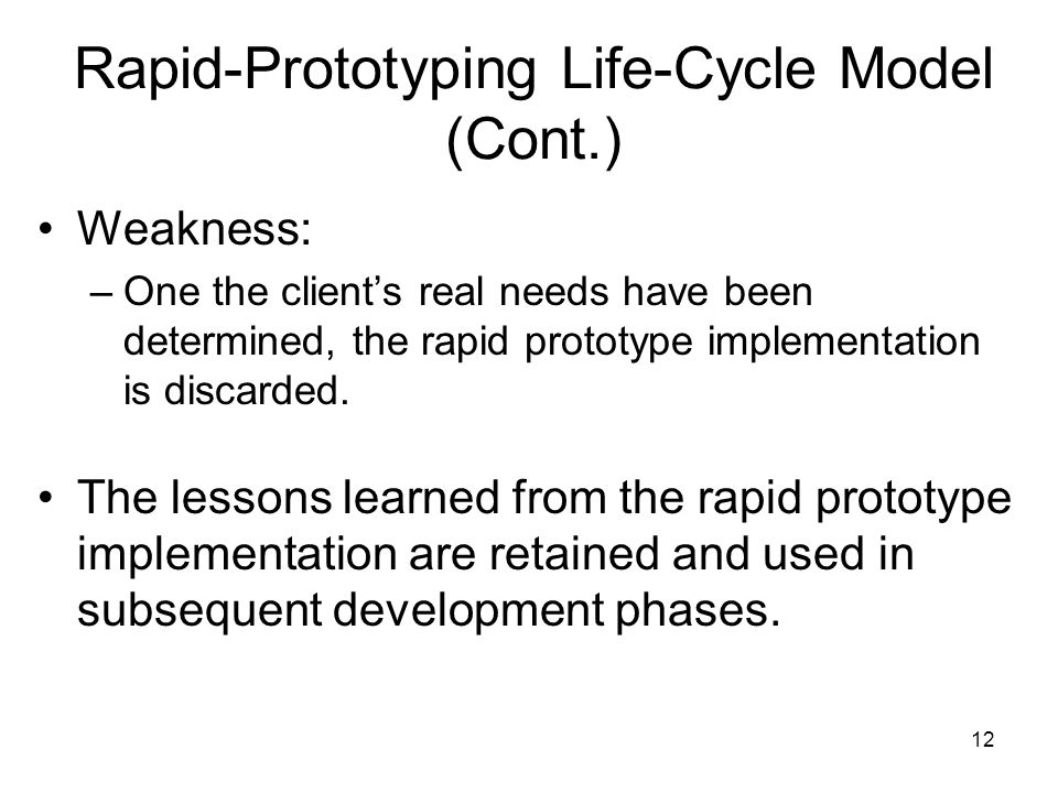 Rapid-Prototyping Life-Cycle Model (Cont.)